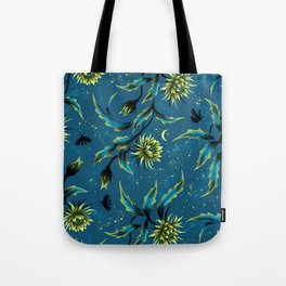 Queen of the Night - Teal Tote Bag