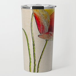 Orange Poppy Travel Mug