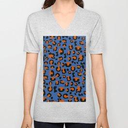 Jungle - Leopard Pattern Blue Unisex V-Neck