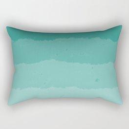 Teal Clouds Layers Rectangular Pillow