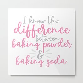 The Difference Between Baking Powder & Baking Soda Metal Print