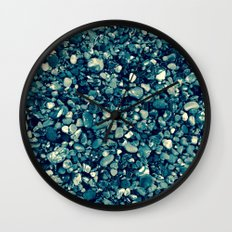 Pebbles in Blueish Wall Clock