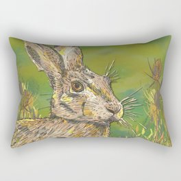 Summer Hare Rectangular Pillow