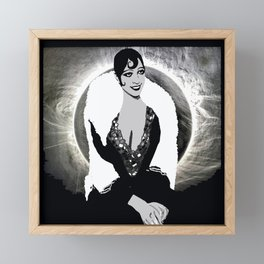 Josephine Baker the Original Flapper and Diva Framed Mini Art Print