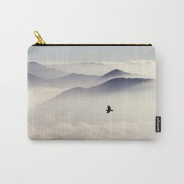 Bird flying in mountains Carry-All Pouch