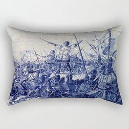 Portuguese Historical Art Rectangular Pillow