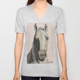 Horse Art, Farm Animal Art Unisex V-Neck