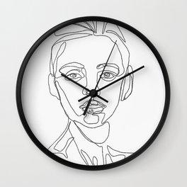 Nervous oneline facetrace Wall Clock