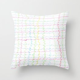 Squigles Throw Pillow
