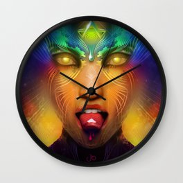 Vermilion Tongued Siren Wall Clock