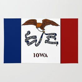 Fancy Flag:  Iowa Rug