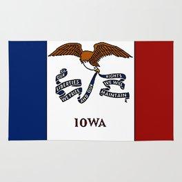 Fancy Flag:  Iowa Rug
