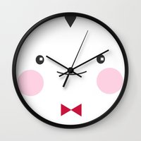 vegan Wall Clocks featuring I'm Vegan by Piktorama