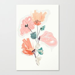 Wild Beauty Saffron Canvas Print