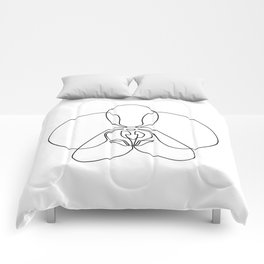 One-Line Orchid Comforters