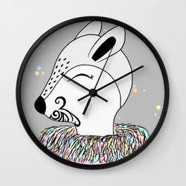Miss Hata (in purple) Wall Clock