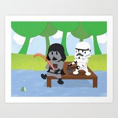 SW Kids - Darth Fishing Art Print