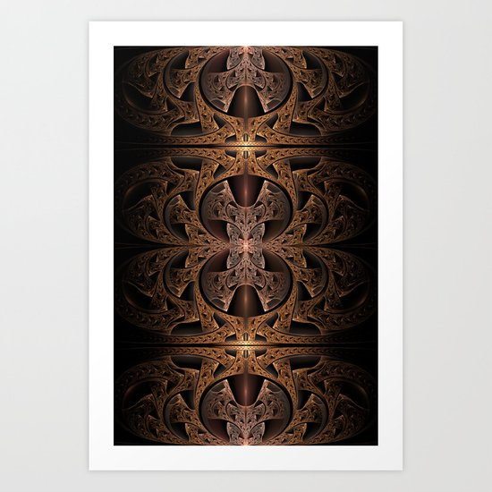 Steampunk Engine Abstract Fractal Art Art Print
