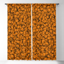 Halloween pumpkins Blackout Curtain