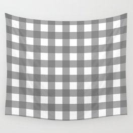 Gingham (Gray/White) Wall Tapestry