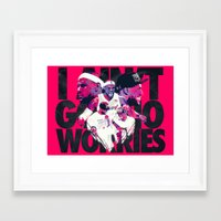 lebron Framed Art Prints featuring LEBRON 2 TIME CHAMPION by mergedvisible