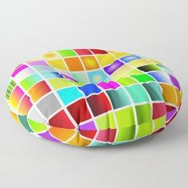 Palette color Floor Pillow