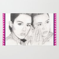 miley Area & Throw Rugs featuring miley vs. miley by als3
