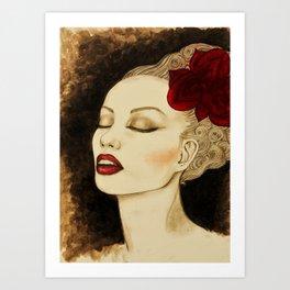 Jazzy girl Art Print