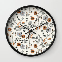 Floral pattern Flowers Wall Clock