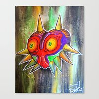 majora Canvas Prints featuring Majora mask by Lyxy