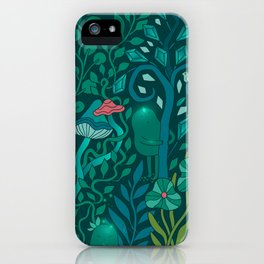 Emerald forest keepers. Magic woodland creatures. iPhone Case