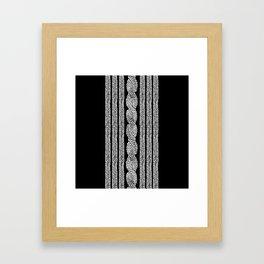 Cable Stripe Black Framed Art Print