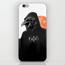 The Satanic Metal Crow iPhone Skin
