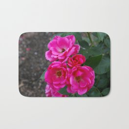 Pink Rose Bunch Bath Mat