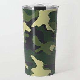 Army Green Camouflage Camo Pattern Travel Mug