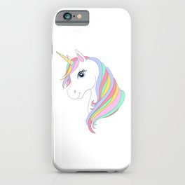 Unicorn cartoon iPhone Case