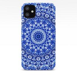 Blue Mandala Mehndi Style G403 iPhone Case