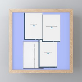 screen Framed Mini Art Print