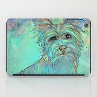 yorkie iPad Cases featuring Dog Illustration ; Yorkie by Lizzy Zumbaugh