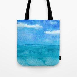 Blue Rain Tote Bag