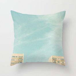 Tower Blocks Throw Pillow