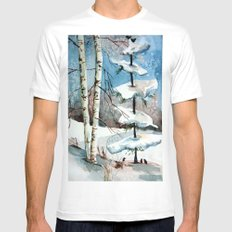 Carol of the Birds White Mens Fitted Tee MEDIUM