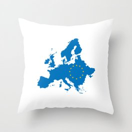 Anti Brexit Great Britain Brexiting European Union Europe Flag With Stars Throw Pillow