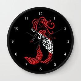 Tribal Scuba Flag Mermaid Wall Clock