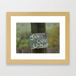 Message from Jah Framed Art Print
