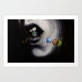 Candy Planets Art Print
