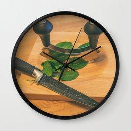 Chopped. Wall Clock
