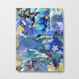 Blu Blu Metal Print
