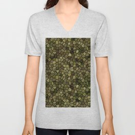 Faux Toad Skin Abstract Pattern Unisex V-Neck