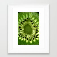 kiwi Framed Art Prints featuring kiwi by Yes Menu